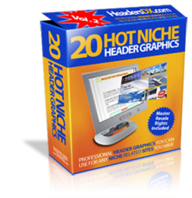 Product picture 20 Hot Niche Header graphics + Resell Rights
