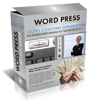 Product picture Wordpress Auto Content Generator - MRR